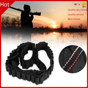 50 Round Shotgun Shell Bandolier Cartridge Belt Strap 12 GA Ammo Holder Pouch