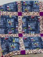 "Handmade Quilt- Wine Quilt - 47"" X 59""-Different Wines, Corks"