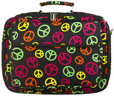 Peace Sign 17 inch Laptop Case Briefcase Womens Work School Messenger Bag