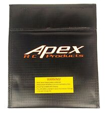 Apex RC Products 180mm X 220mm Lipo Safe Fire Resistant Charging Bag #8078