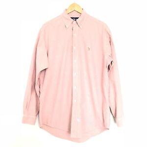 Ralph Lauren Red / Mauve Oxford Button-Down Shirt Long Sleeve EUC Men's 15 - 34
