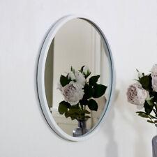 Round white wall mirror minimalist hallway living room bathroom decor display