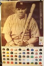 Babe Ruth Cooperstown Collection Baseball Caps Hats 24 x 37 Poster Roman Classic