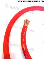 20 ft 1/0 Gauge Oversized AWG RED Power Ground Wire Sky High Car Audio Cable