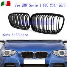 Per BMW Serie 1 F20 2011-14 griglia frontale griglia doppia fila nero brillante