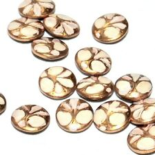 Tout petit bouton ancien art nouveau métal doré peint blanc 7mm button