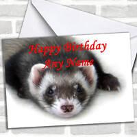 Ferret Personalized Birthday Card
