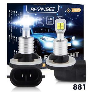 881 889 LED For Hyundai Genesis Coupe 2010-2012 Fog Light Lamp Bulbs 80W 1500LM