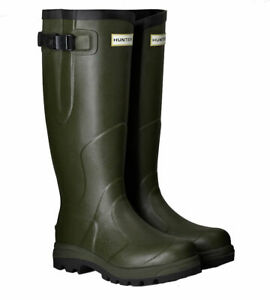 SALE New Mens Balmoral Classic Hunter Wellington Boots Green Size UK 11