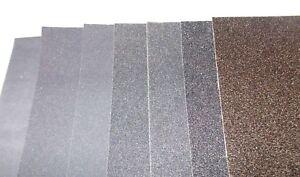 Wet & Dry Emery Paper Sheet 120 -> 2000 Abracs Grit Smooth Medium & Coarse.