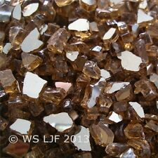 "4 LBS 1/4"" Copper Reflective Fireglass Fire Pit Rocks Fireplace Glass Crystals"