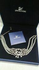 Beautiful signed swan swarovski crystal Disney cinderella choker necklace