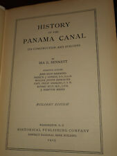 History Of The Panama Canal Builders Edition Ira E Bennett 1915 hc ILLUSTRATED