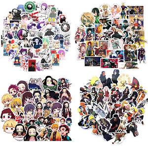 282 pcs anime stickers naruto demon slayer tokyo ghoul my hero academia laptop