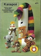 Knit & Crochet Toys Kaiapoi 471 vintage knitting pattern clown lion snake koala