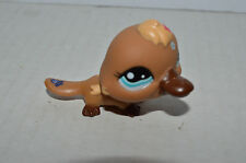 Littlest Pet Shop~#1395~Platypus~Brown Yellow~Flowers~Blue Eyes~Special Edition