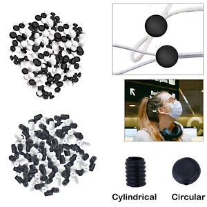 Toggles for Elastic Cord Adjustable Silicone Stopper For Face Masks