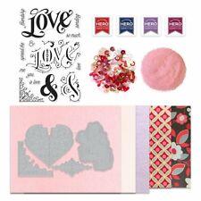 Hero Arts My Monthly Hero Kit JANUARY NEW stamps & dies hearts Love