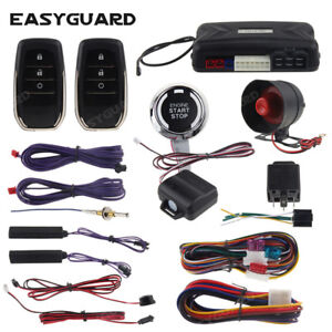 EASYGUARD pke car alarm system keyless entry auto start push button shock sensor