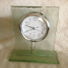 Frosted Mantle Table Glass Quartz Clock