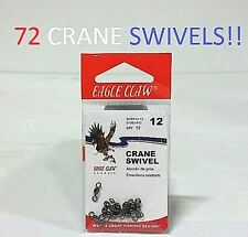 72 Eagle Claw Sz.12 Black Crane Swivels (01202-012) EB170103