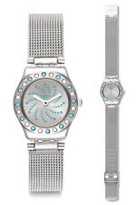 Swatch Meche Bleue Watch yss320m Analogue Stainless Steel Silver