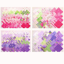 Stoffpaket Precuts Scraps 5x5 + 10x10 cm Stoffe pink + lila - Sausalito Cottage