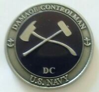 """UNTIED STATES NAVY """"DAMAGE CONTROLMAN"""" (DC) ENGRAVABLE CHALLENGE COIN"""