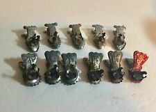 Antique Tin Christmas Tree Candleholders Clips Lot of 11 Some Germany Two Types