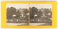 Francia Parc Da La Villa Bambini Giardino, Foto Stereo Vintage Analogica Ca 1900
