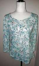 ERIKA Size L Women's Blue-Green Studded Shirt