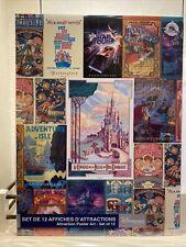 Set 12 Affiches Attractions Disneyland Paris Poster Art
