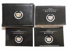 2002 CADILLAC DEVILLE Owners Manual & Warranty In original Case handbooks