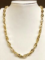 """14k Solid Yellow Gold Anchor Mariner chain/necklace 8 MM 88 Grams 22"""""""