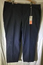 NWT Old Navy Harper Mid Rise Navy With White Flower Pattern Pants Size 18