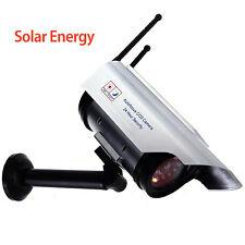 Outdoor Solar Powered CCTV Dummy Decoy Security Surveillance Camera + IR LED