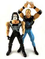Sting & DDP Diamond Dallas Page Vintage WCW Toybiz Action Figures Lot nWo 90s
