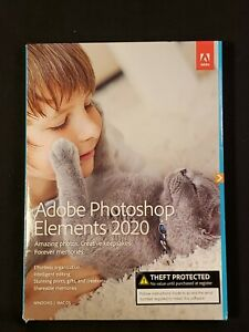 Adobe Photoshop Elements 2020 Windows PC Mac Disc DVD Version - New GENUINE