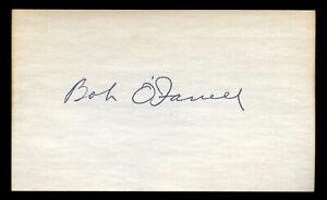 Bob O'Farrell (d. 1988) signed autograph Baseball 3x5 Index Card 4032-26