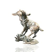 Bronze Springer Spaniel Dog Retrieving Ltd Ed 150 Michael Simpson. 355g.
