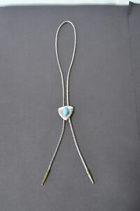 NON Sterling Silver and Brass Turquoise Bolo Concho Detailed Tribal Southwestern