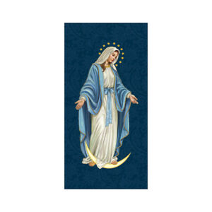 Holy Images Our Lady of Grace Retractable Banner Stand