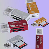 USB 2.0 All in 1 Multi Memory Card Reader for SD MMC SDHC TF M2 Memory Stick New