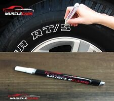 Car & Motorcycle Tire WHITE Letters / Lettering / Sidewall Paint Marker / Pen