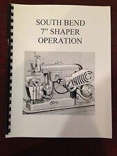 "South Bend 7"" Shaper Manual Maintenance, Parts"