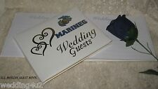 US MARINE MILITARY Wedding Supplies GOLD HEARTS GUEST BOOK