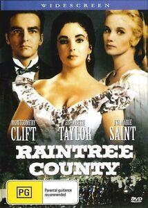 Raintree County DVD Elizabeth Taylor Montgomery Clift Brand New Aus Release