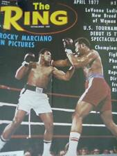 The Ring Magazine April 1977 - Rocky Marciano, LaVonne Ludian, Ali At 35, Sean O