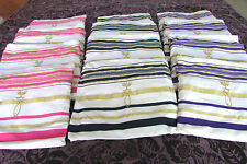 Jewish Messianic Prayer Shawls 1 Dozen Tallit Bags & 12 Shawls -Blue,Purple,Pink