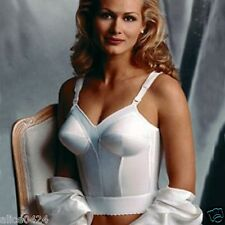 Exquisite Form Fully 40C White Back Hook Longline Bra 7532   Ship Fast
